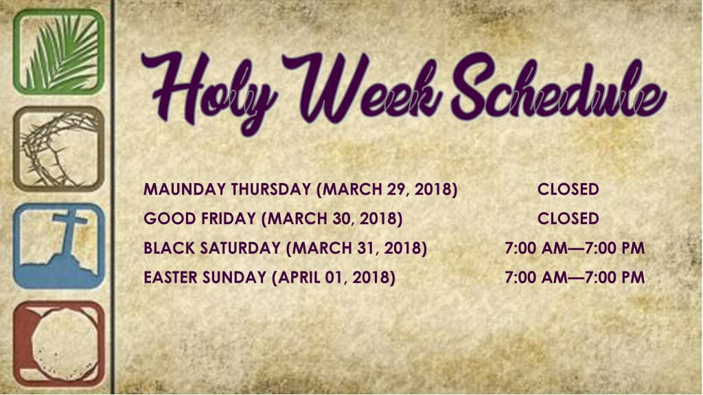 Holy Week Schedule (2)